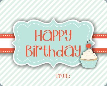 Simple Happy Birthday TEMPLATE 114957 By Cassie Balser Large Address Labels This Gift Tag Is The Perfect Accessory For Any