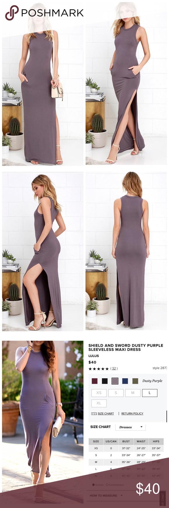 7041a0d73d Lulu s maxi dress NWOT Lulu s shield  amp  sword dusty purple sleeveless  maxi dress. Amazing