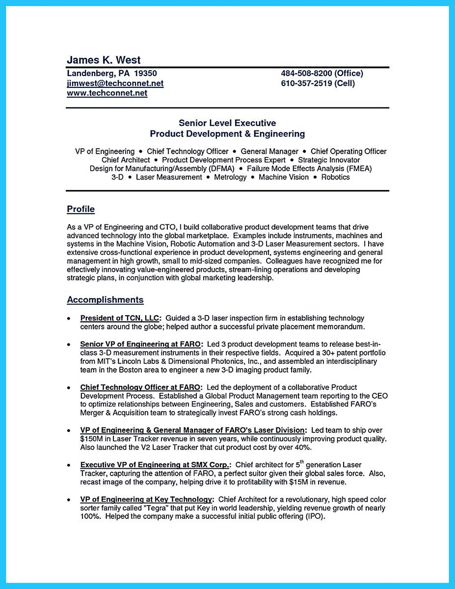 nice Outstanding CTO Resume for Professionals,