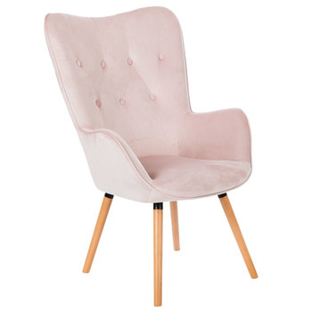 Blush Tufted Back Accent Chair Pink Accent Chair Pink Office