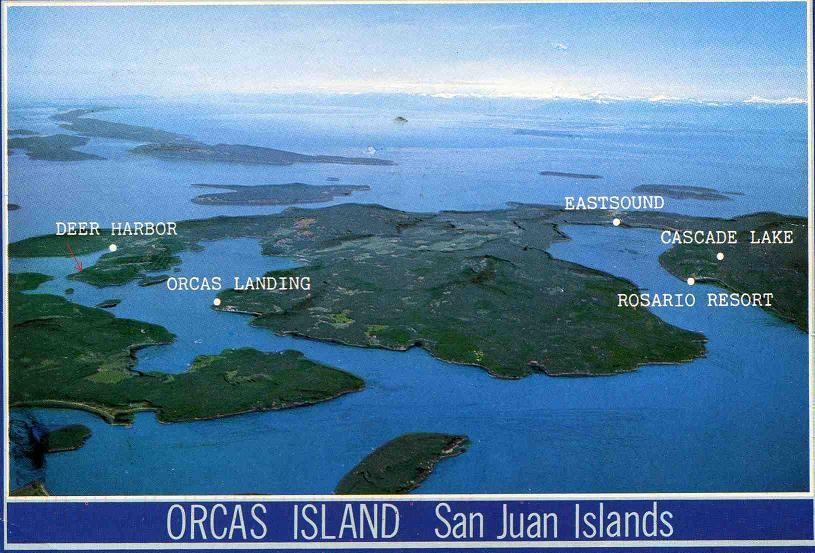 Orcas Island In The San Juan Islands Puget Sound Washington