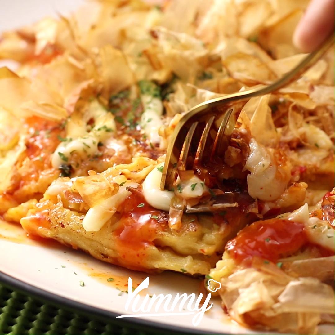Video Mie Okonomiyaki Masakan Simpel Resep Makanan Resep Masakan Asia