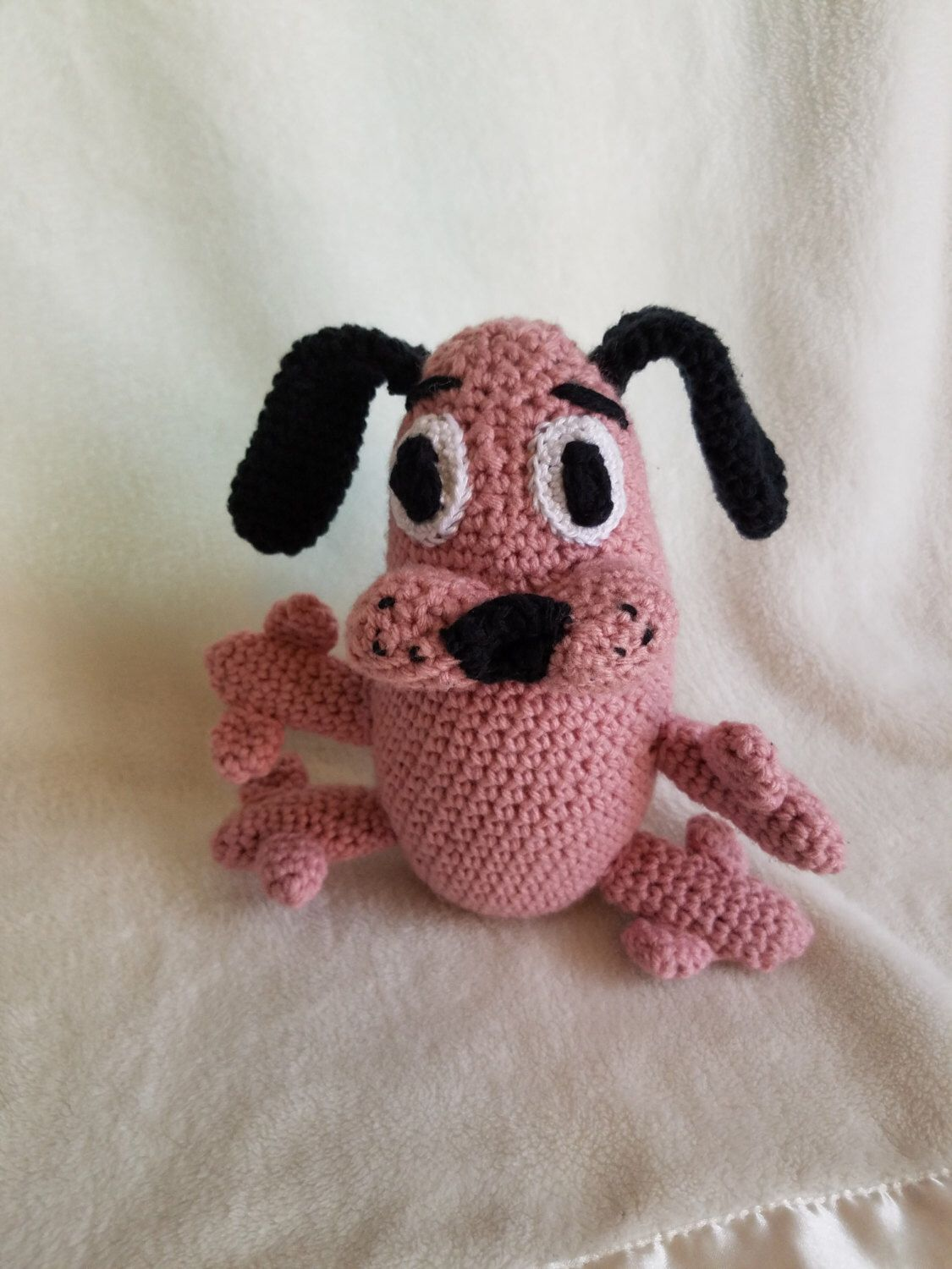 Courage The Cowardly Dog Amigurumi Dog Plush Crochet Dog Dog