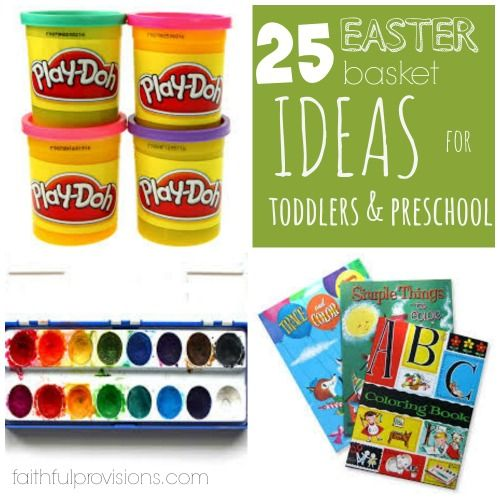 Easter basket ideas for toddlers preschoolers pinterest basket easter basket ideas for toddlers preschoolers faithful provisions negle Choice Image