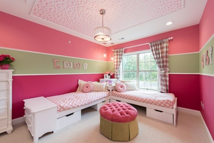 65 Wand Streichen Ideen - Muster, Streifen Und Struktureffekte ... Ideen Fr Wnde Im Kinderzimmer