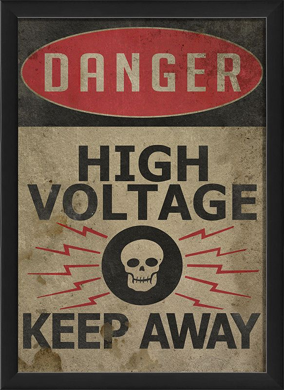 Danger High Voltage Sign By The Artwork Factory High