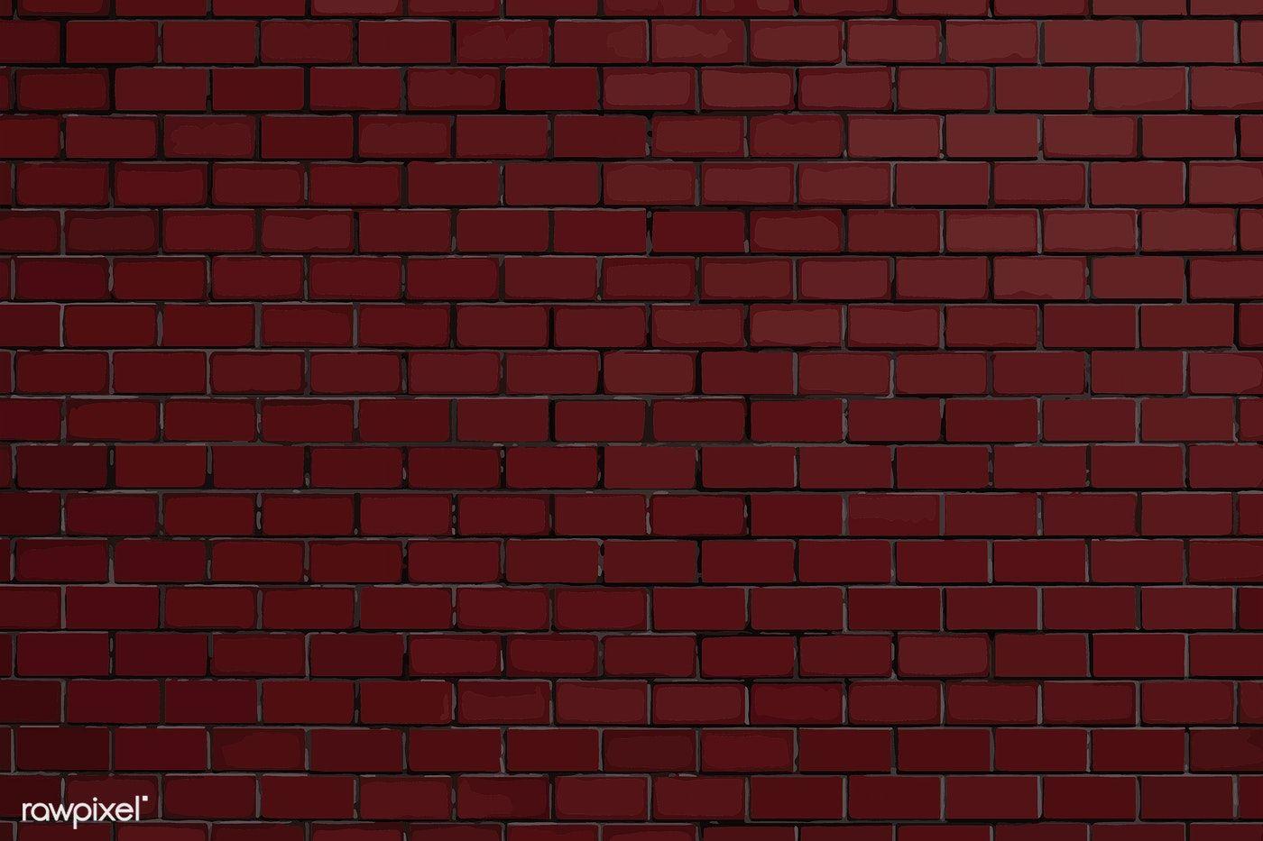 Dark Red Brick Textured Background Vector Free Image By Rawpixel Com Niwat Brick Texture Red Texture Background Red Brick Wallpaper
