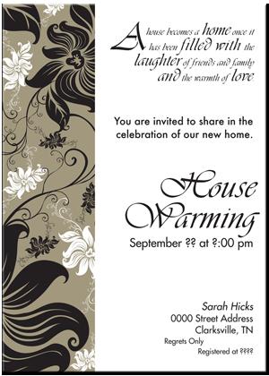 Sample House Warming Invitation