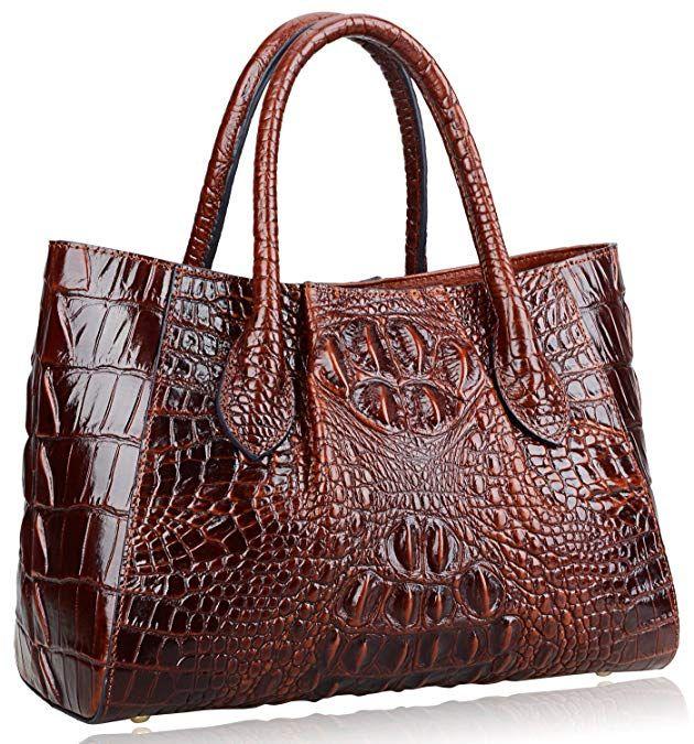 690bf51e08 PIJUSHI Women Handbags Crocodile Top Handle Bag Designer Satchel Bags For  Women (5002A