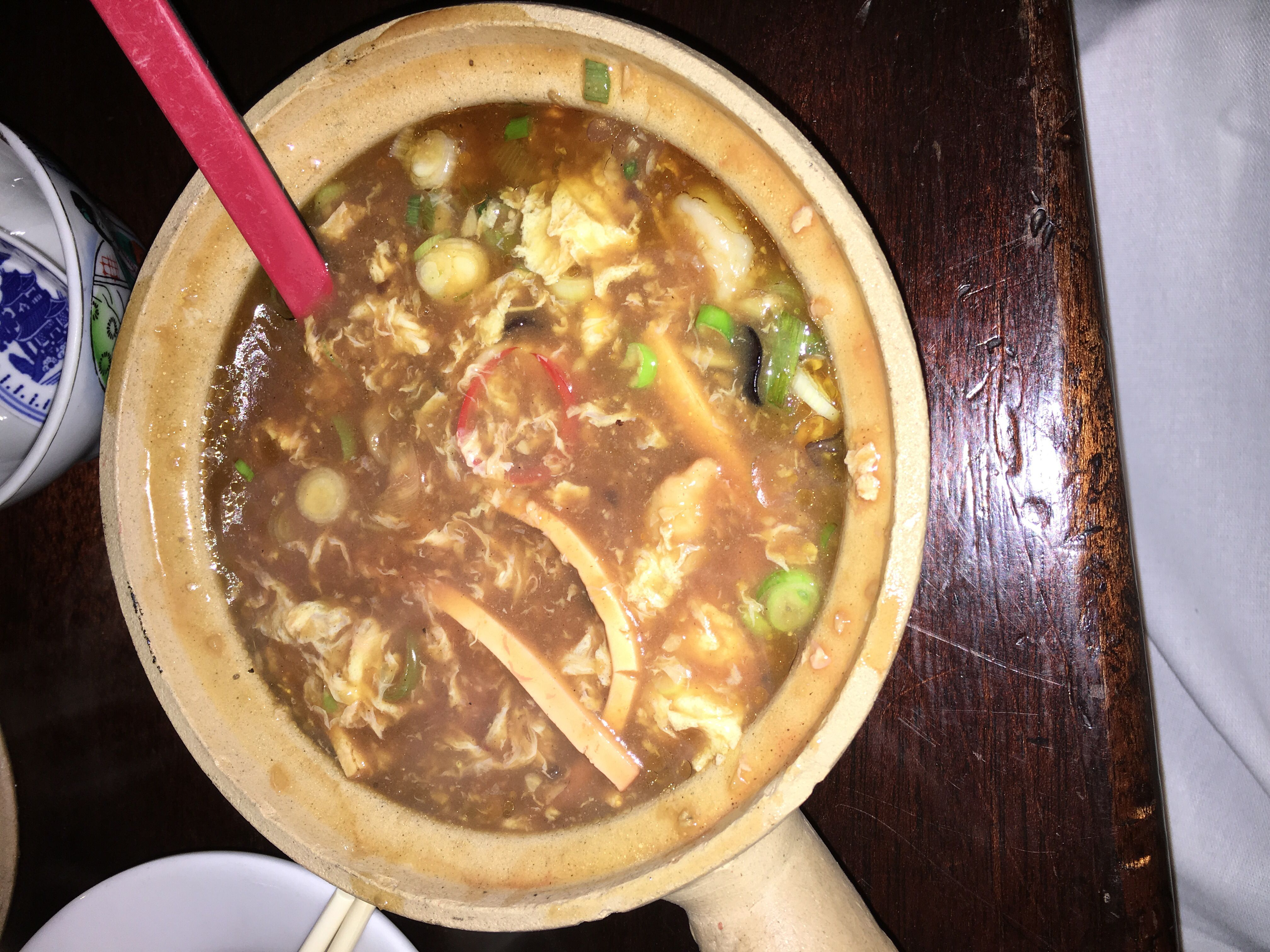 Hot sour soup with lily flower chicken shrimp at kings county hot sour soup with lily flower chicken shrimp at kings county imperial izmirmasajfo Gallery
