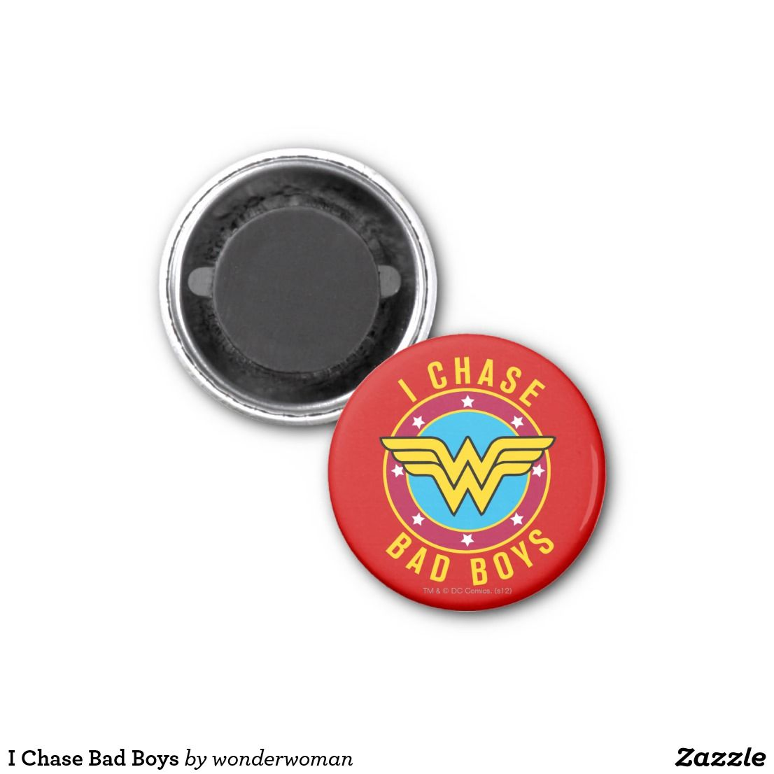Bad design logo i chase bad boys magnet  wonder woman cool logos  pinterest