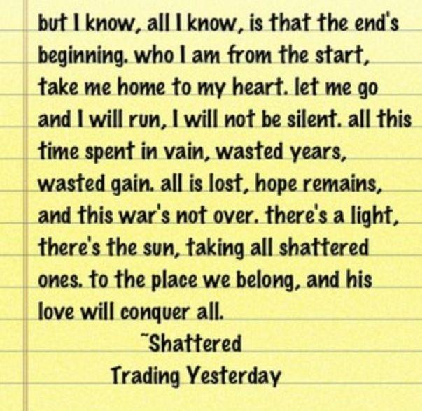 Shattered Trading Yesterday