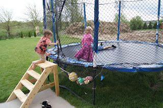 Incroyable DIY Trampoline Stairs
