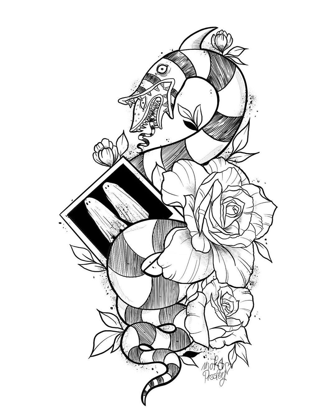 Moka Presley Tattoo On Instagram Beetlejuice Beetlejuice Beetlejuice It S Showtime Tat Beetlejuice Tattoo Tim Burton Tattoo Halloween Tattoos
