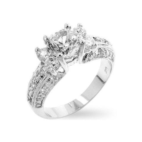 Engagement Rings Zirconia 2 Carat Half Sizes 8