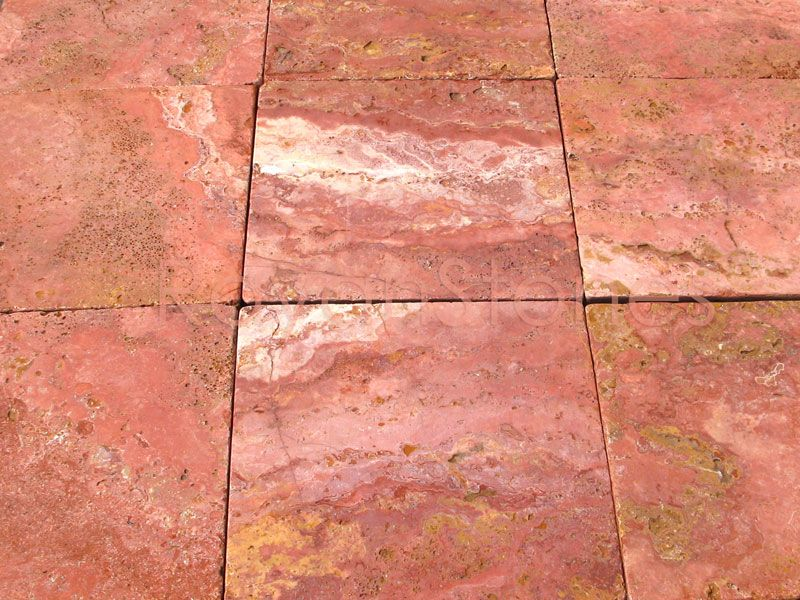 iranian red travertine tiles can come