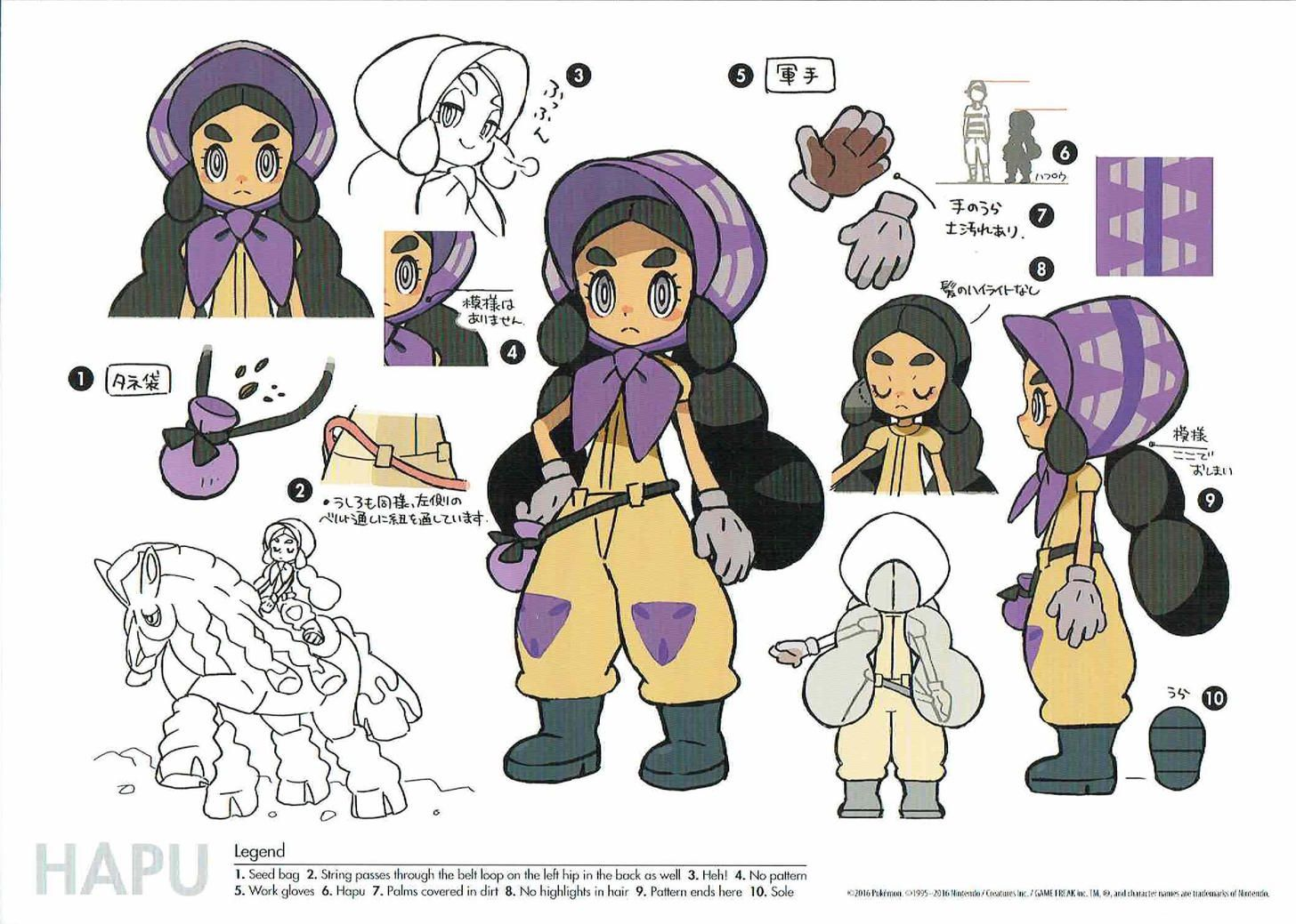 Pokemon sunmoon character concept arts part 2 character concept pokemon sunmoon character concept arts part 2 biocorpaavc Images