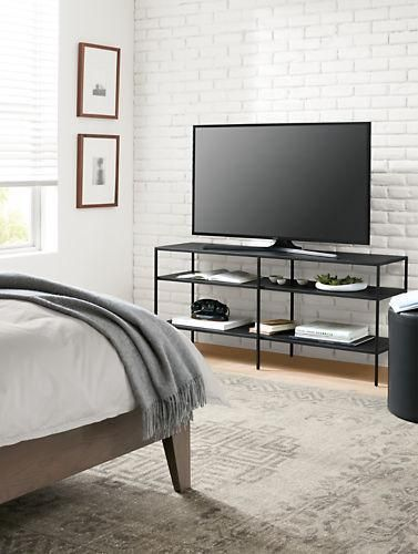 Slim Media Console in Natural Steel | Consoles, Steel and Console ...
