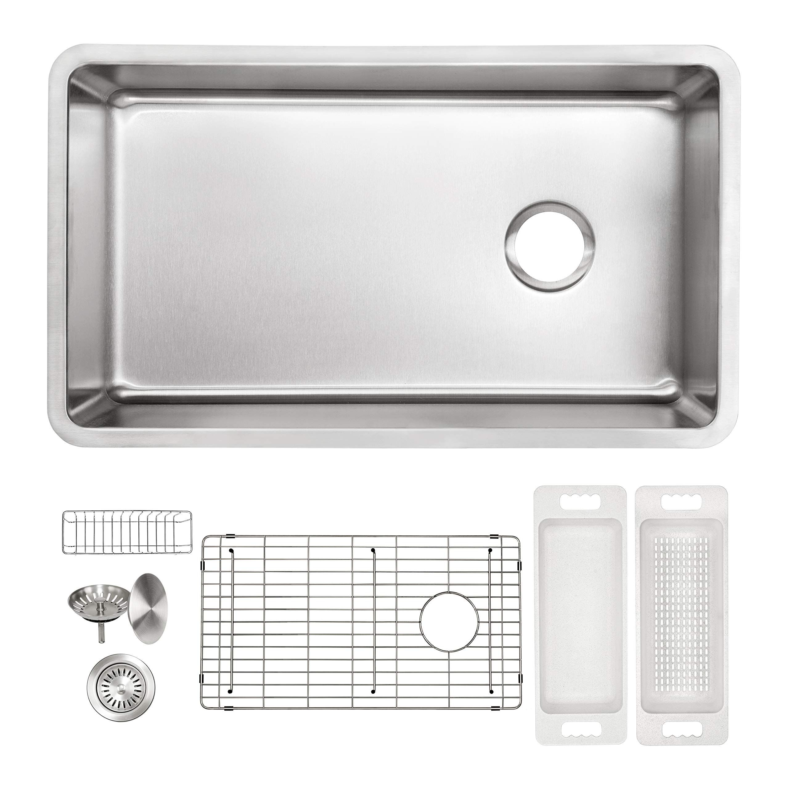 Zuhne 16g Offset Drain Stainless Steel Kitchen Sink Fits 36a