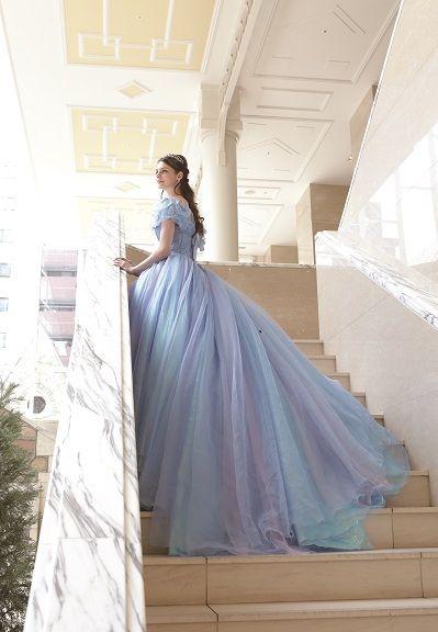 4af3d3bdaec75 シンデレラドレス、ブルーカラードレス
