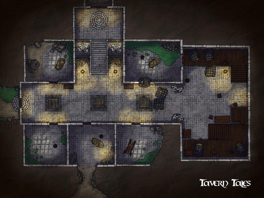 Fort Joy Dungeon (Divinity Original Sin 2) battlemaps