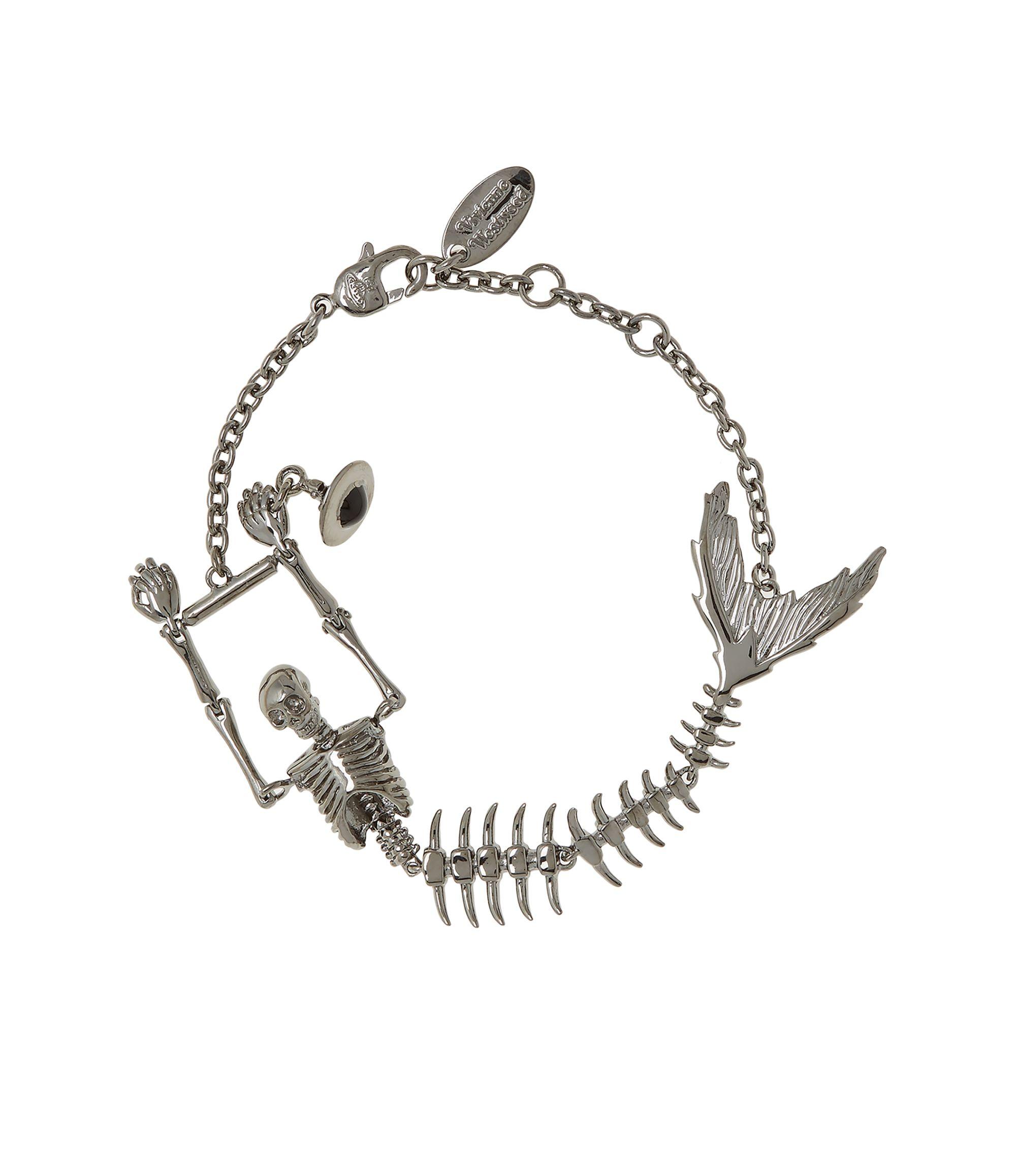 7cfb3692745c2 Ariel Skeleton Bracelet Gunmetal   RTW   Vivienne westwood bracelet ...