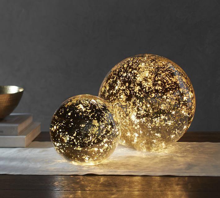 Lit Mercury Glass Globe - insert strands of lights for a sparkling ...