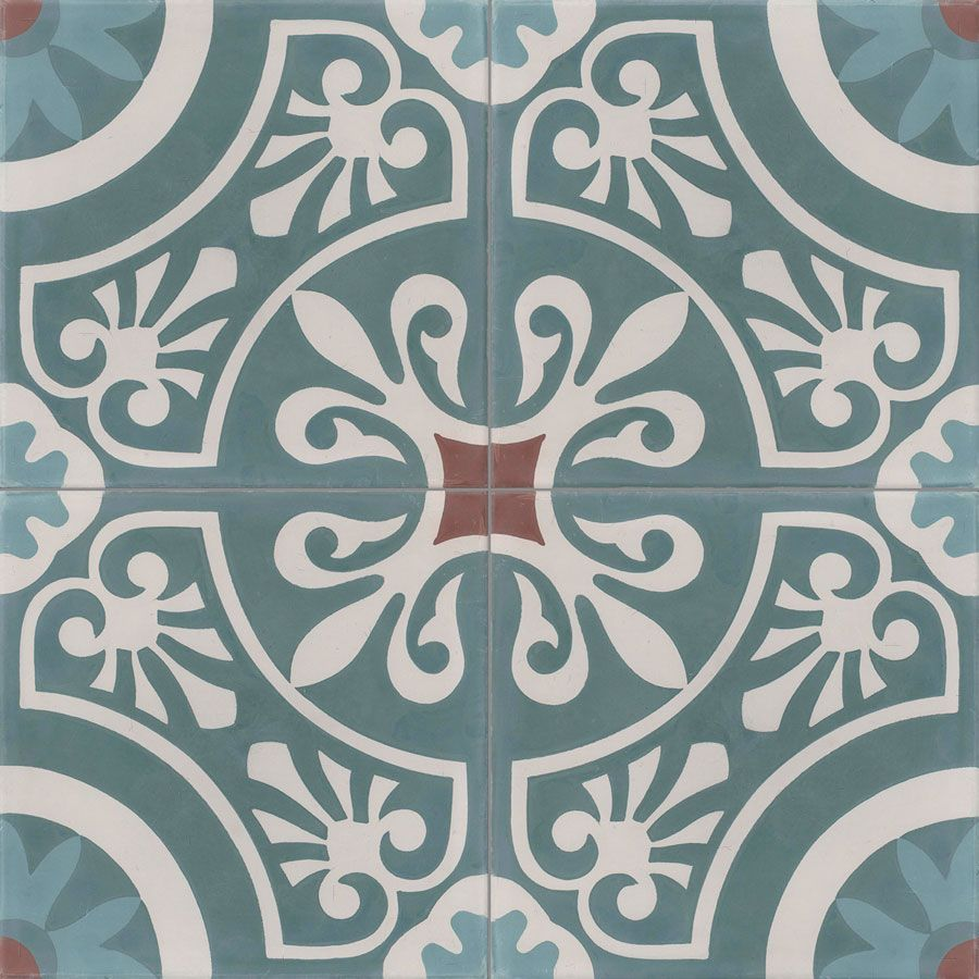Carreaux De Ciment Decors 4 Carreaux Carreau Cercle 40 07