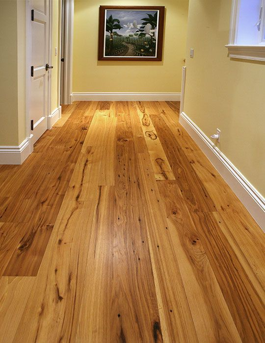 Reclaimed Hickory Flooring Wide Plank Hickory Olde Wood Wood