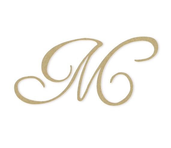 Cursive Monogram Letter Large Or Small Unfinished