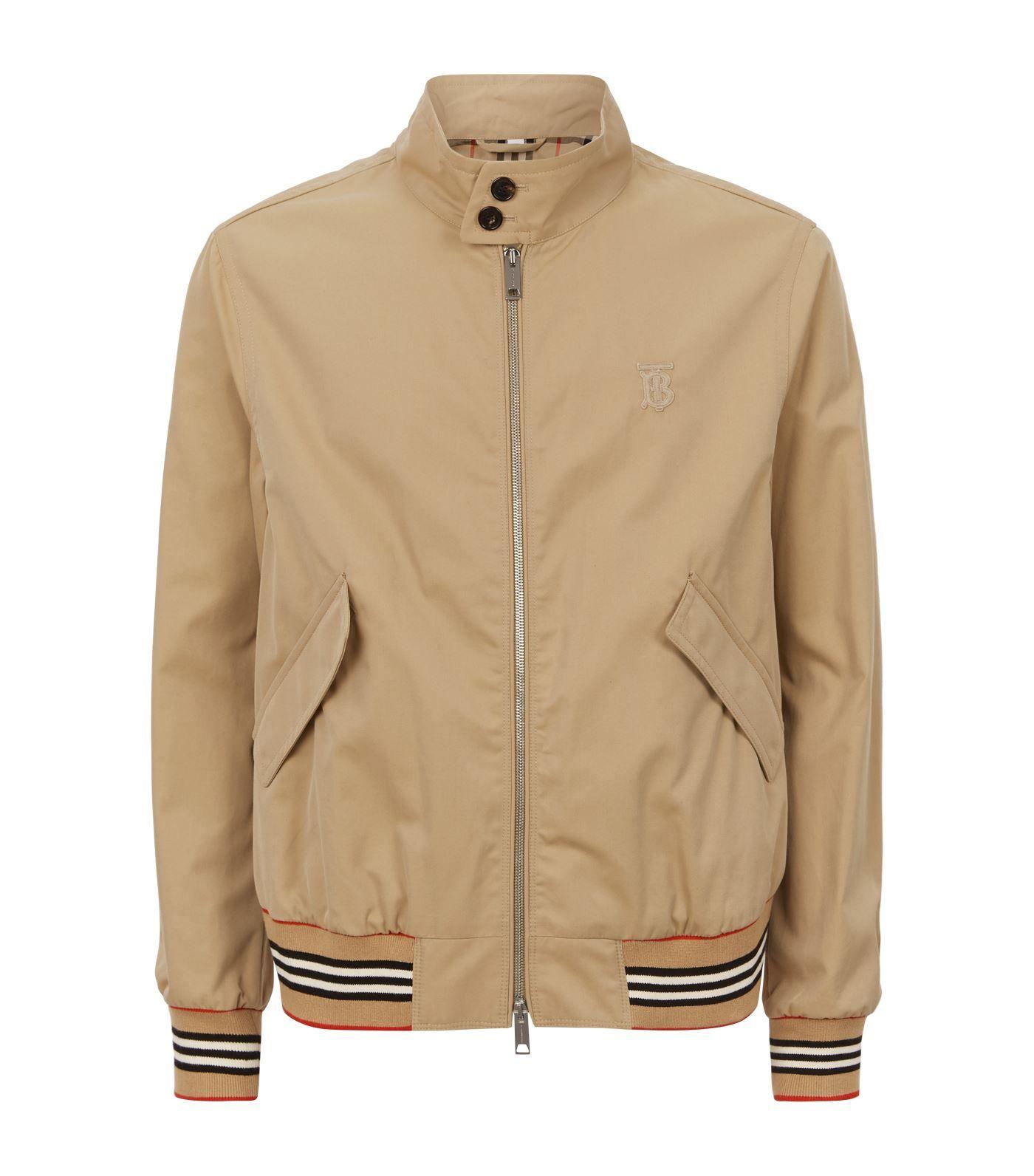 Burberry Harrington Jacket Burberry Cloth Harrington Jacket Jackets Cotton Gaberdine [ 1592 x 1400 Pixel ]