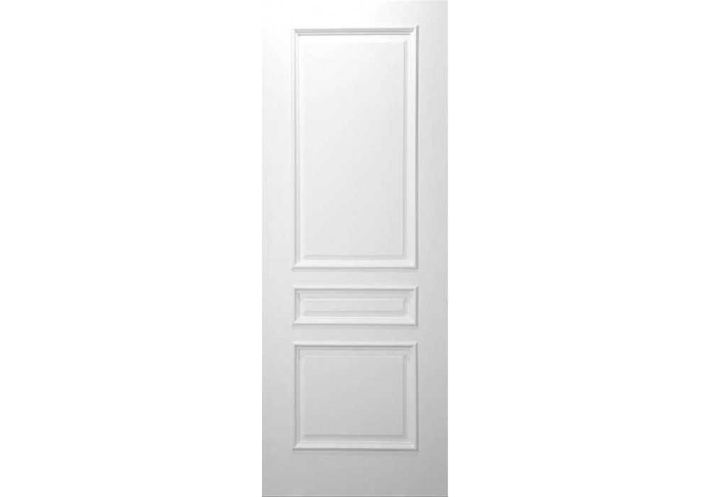 Dallas 3 Panel Square Top White Primed With Raised Moulding 1 3 4 White Paneling Doors Interior 3 Panel Interior Doors
