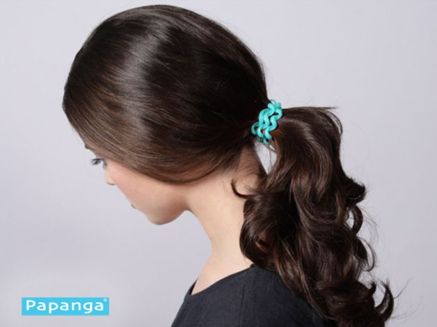Papanga Hair Tie Lagune In Action So Sieht Euer Papanga In Der