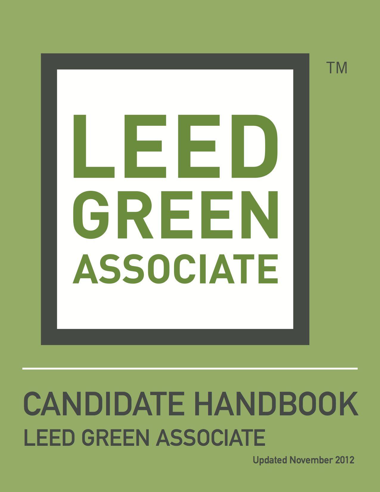 Leed Green Associate Candidate Handbook Us Green Building