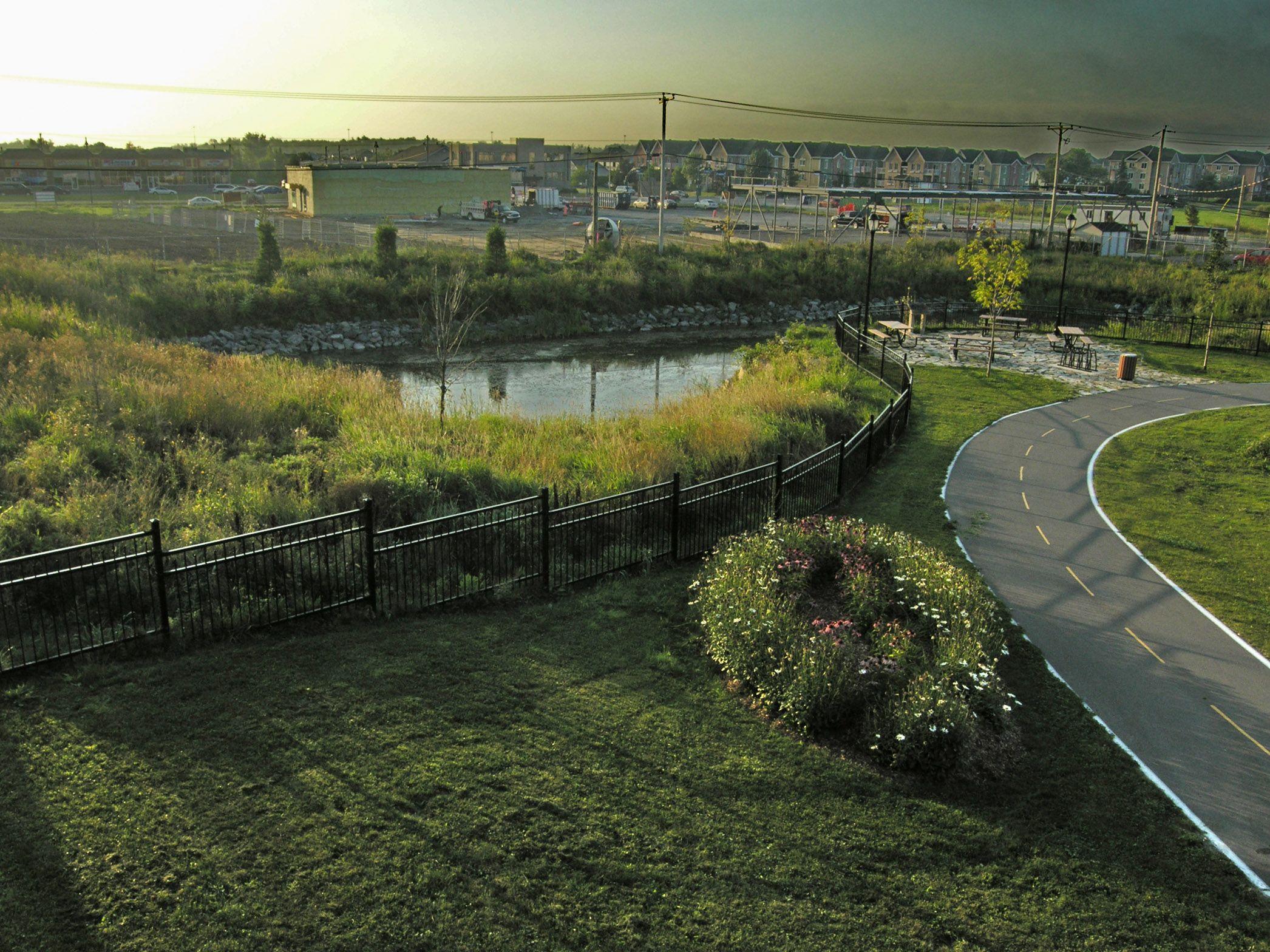 Le Parc du Ruisseau, à la Ville de Mascouche; Une