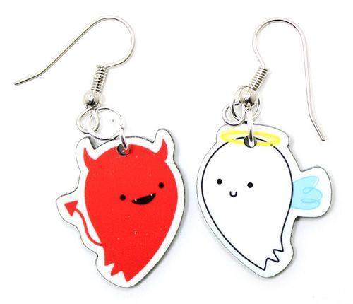 Kawaii Earrings Angel And Devil Kawaii Jewelry