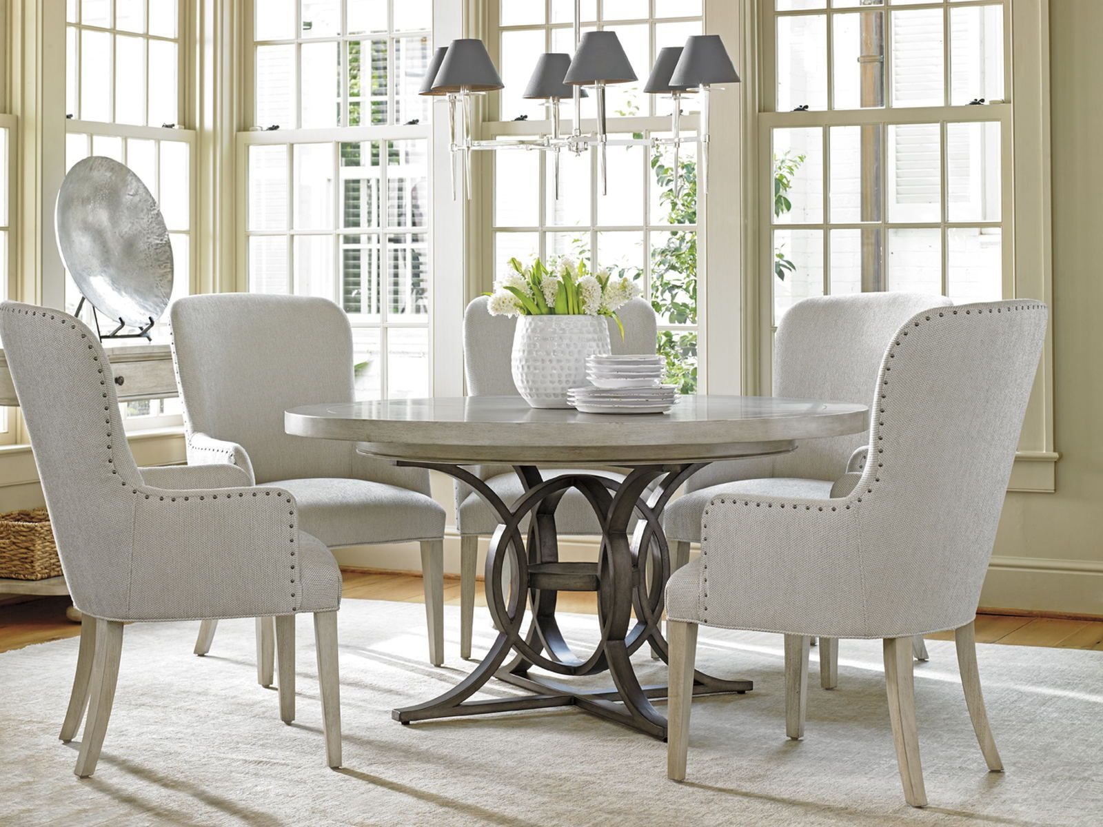 Lexington Oyster Bay 5 Piece Calerton Round Dining Set Oyster Bay Collection Lexington Brands By Dining Rooms Outlet Round Dining Room Sets Round Dining Room Dining Room Sets