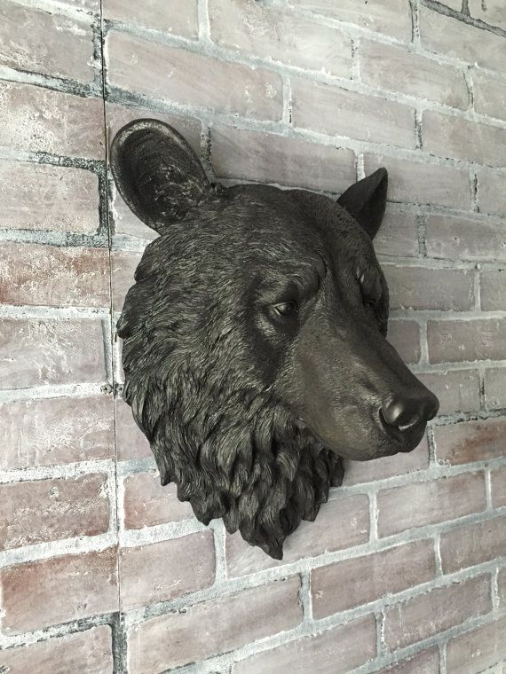 ANY COLOR or Faux BLACK Bear Head Wall Mount // Faux by KINGFOUR ...