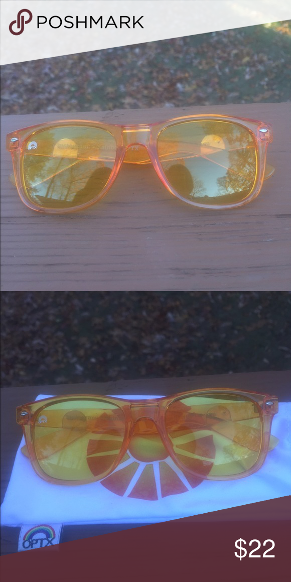 a254114c1fe3 New Chakra Rainbow Optx Sunglasses These sunglasses offer UV Protection.  The color yellow effects the