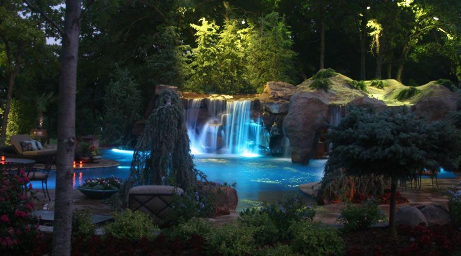 HGTV Twin Creek Pool | Cool Pools | Waterfall Grotto