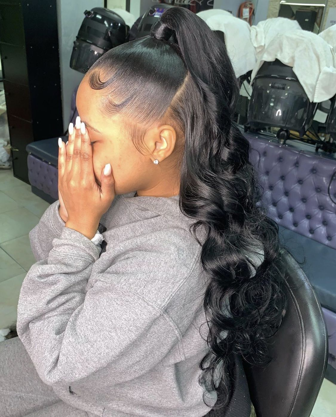 Pin By Karyn Rice On Save In 2020 Weave Ponytail Hairstyles Braids For Black Hair Weave Hairstyles