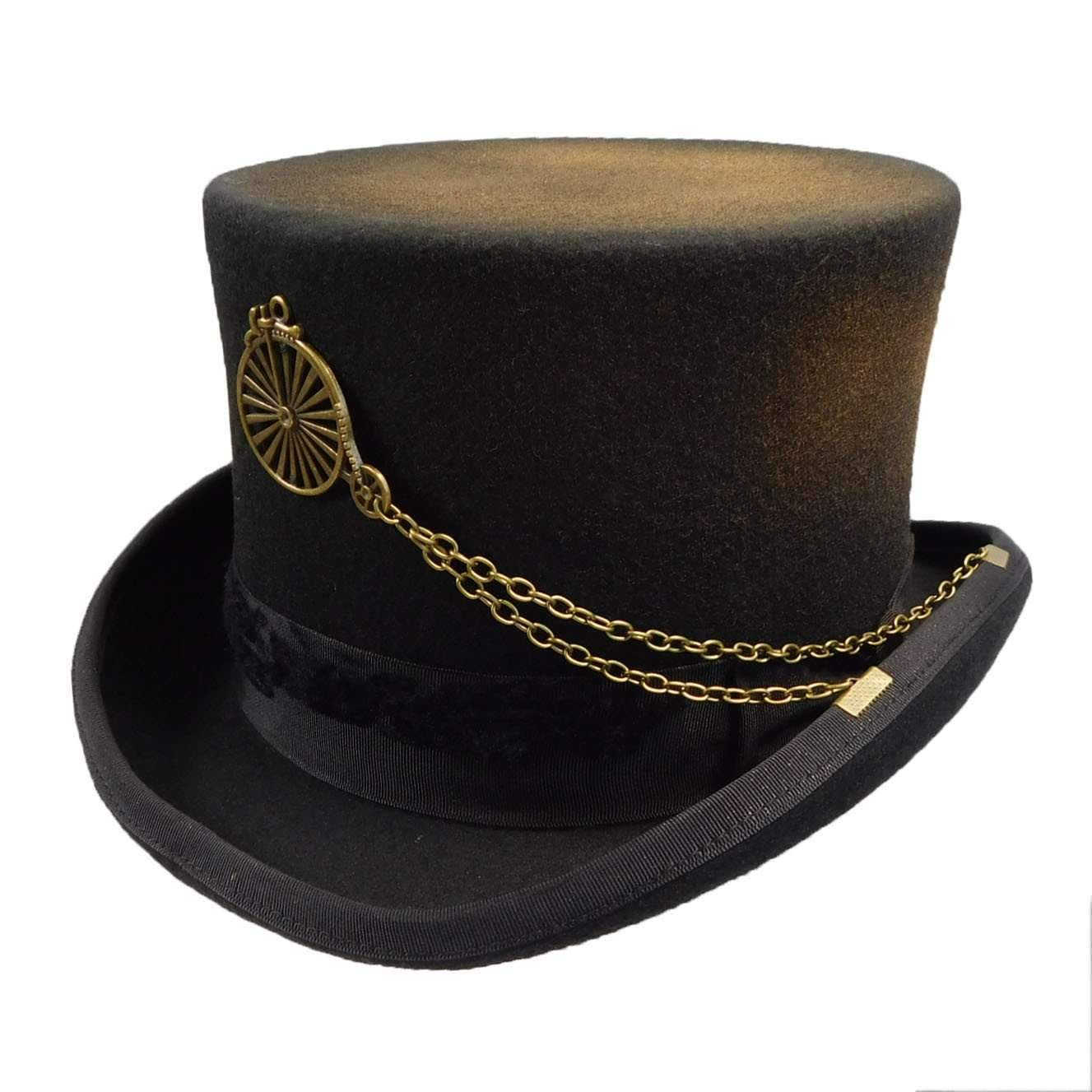 0712dd06c874 Panama Straw Top Hat - Black in 2019 | Hats! | Top hats for women ...