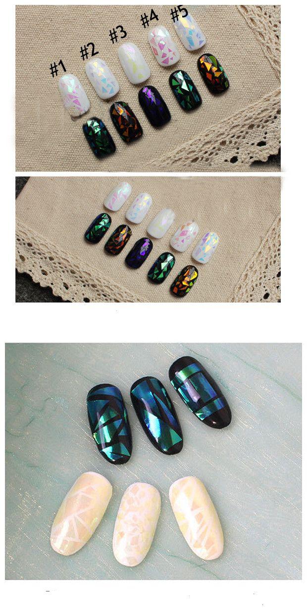 $0.59 1Pc Shiny Laser Nail Foils Holographic Foils Nail Art Transfer ...