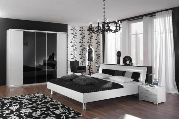 chambre a coucher moderne noir et blanc - Peinture Noir Et Blanc Chambre