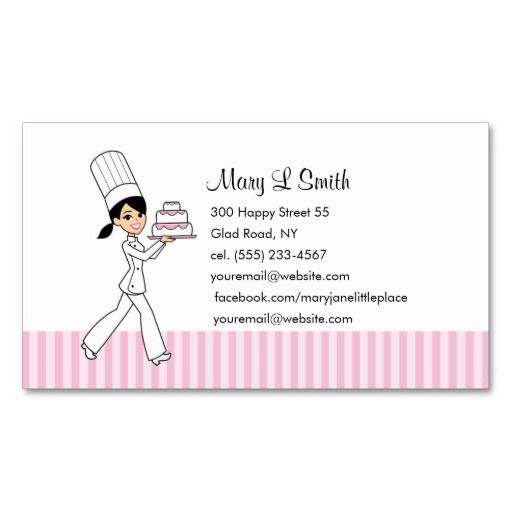 Pastry Chef Personal Calling Card   Customizable Business Card Templates  Chef Templates