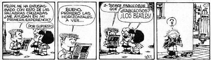 BEATLES IN MAFALDA STRIPS. THE BEATLES COMICS   Comics, The beatles, Mafalda  quotes