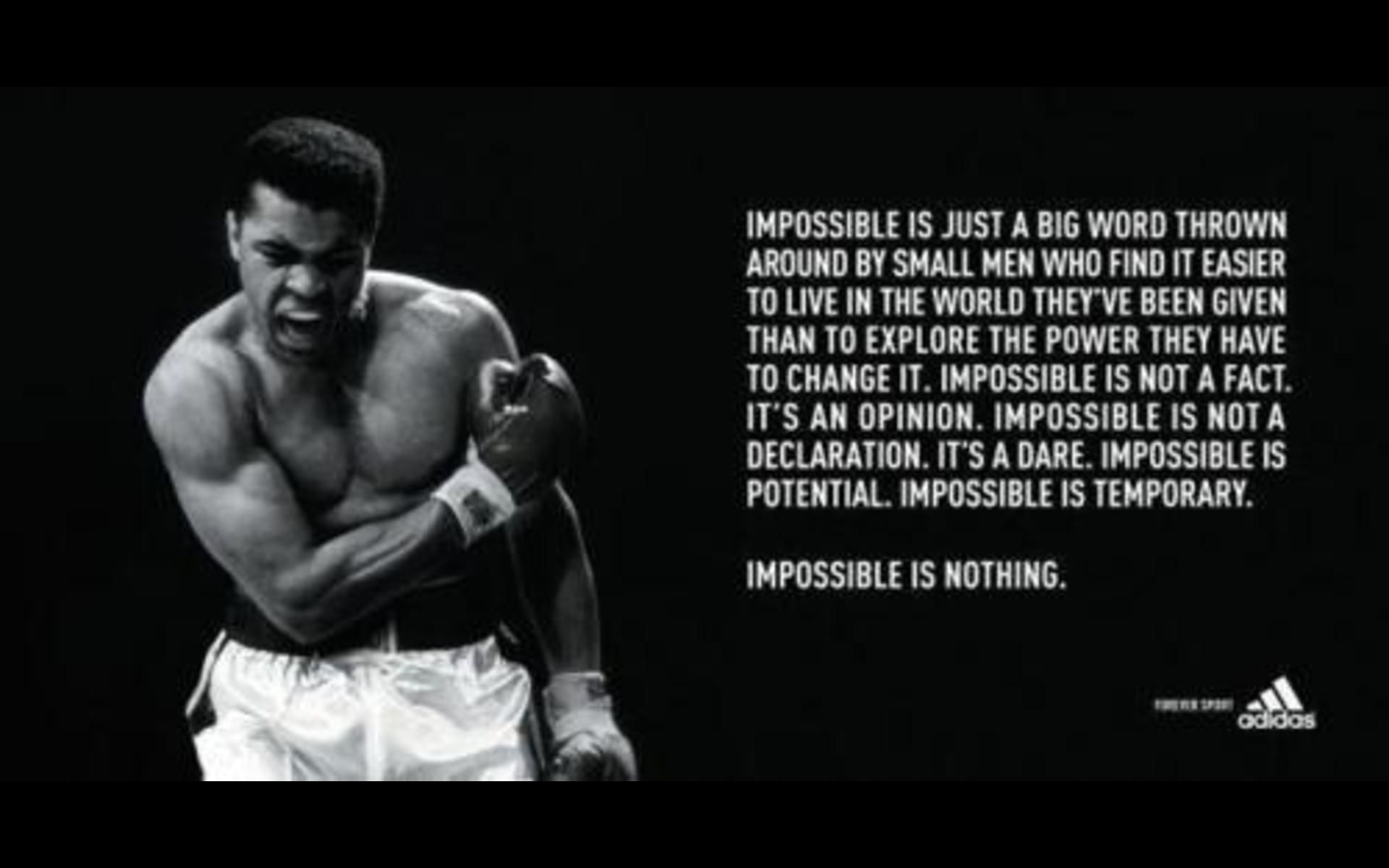 10 New Muhammad Ali Impossible Is Nothing Wallpaper Full Hd 1080p