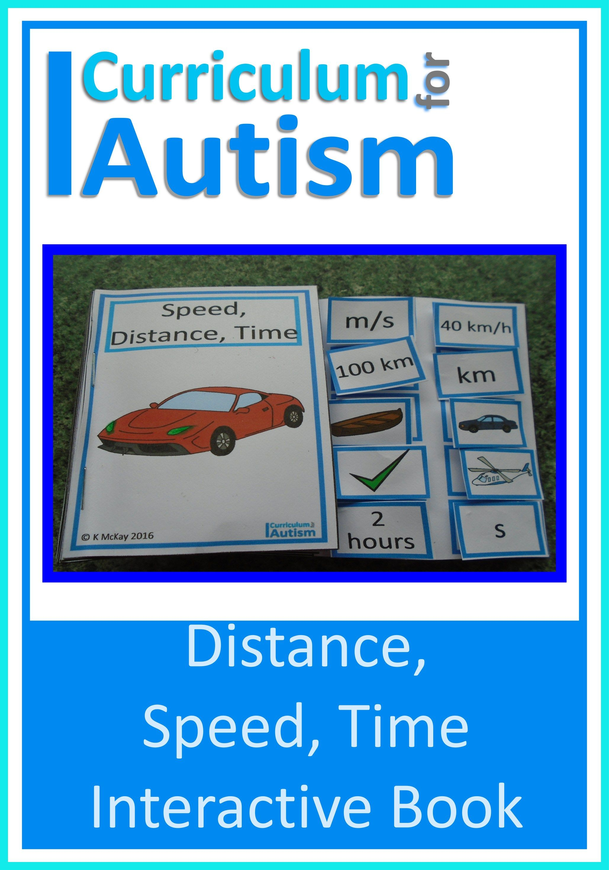 Distance Speed Time Interactive Book