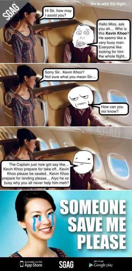 Asian flight attendant humor