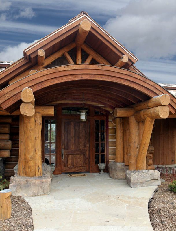 Koselig Hus Log Cabin Entry Log Homes Log Cabin Homes
